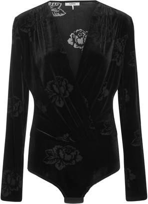 Ganni Velvet Devore Bodysuit