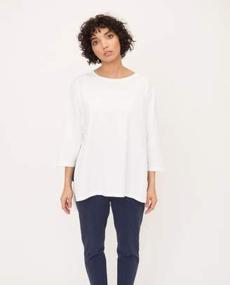 Beaumont Organic Off White Hattie Organic Cotton Top - Off White / Large - White