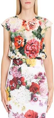 Dolce & Gabbana Floral Print Cady Top
