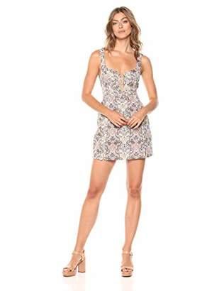 For Love & Lemons Women's Brocade Tapestry Mini Dress
