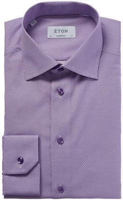 Eton Contemporary Fit Micro Neat Print Dress Shirt