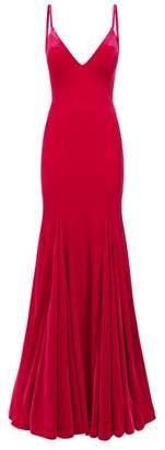 Jovani Strappy Velvet Gown