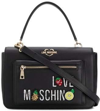 6eeba39e86 Love Moschino Black Shoulder Bags - ShopStyle
