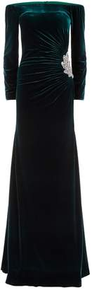 Jovani Embellished Velvet Gown