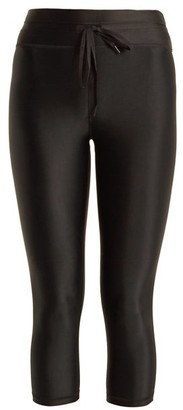 The Upside Nyc Cropped Performance Leggings - Womens - Black