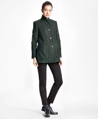 Brooks Brothers Petite Double-Faced Wool-Cashmere Coat