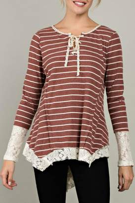 Love Stripe Knit Top