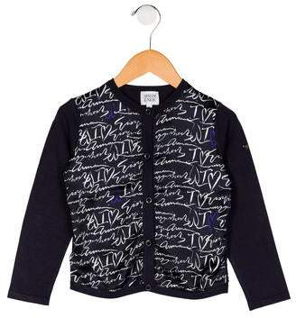 Armani Junior Girls' Knit Printed Cardigan
