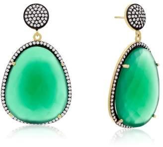 6th Borough Boutique Emerald Gemma Earrings