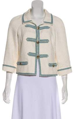Chanel Tweed Button-Up Jacket