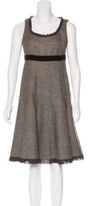 Michael Kors Sleeveless Wool Midi Dress