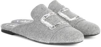 Roger Vivier Exclusive to mytheresa.com – embellished felt slippers
