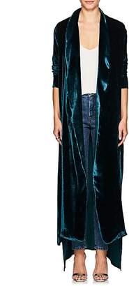 Juan Carlos Obando Women's Victoria Long Robe Jacket - Blue