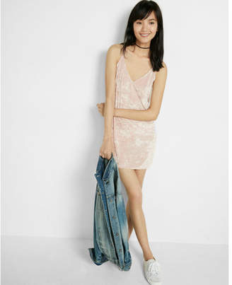 Express velvet tie back slip dress $59.90 thestylecure.com