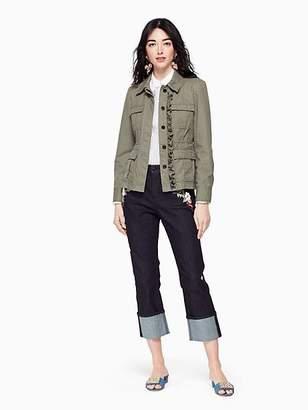 Kate Spade Ruffle army jacket