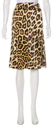 Just Cavalli Knee-Length Flared Skirt