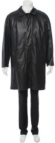 BrioniBrioni Fur-Lined Leather Coat