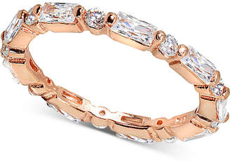 Giani Bernini Cubic Zironia Baguette Band in 18k Rose Gold-Plated Sterling Silver