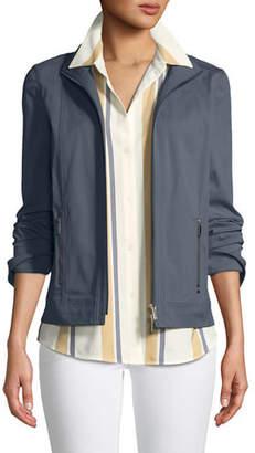 Lafayette 148 New York Weston Italian Gabardine Jacket