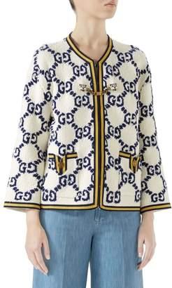 Gucci GG Textured Silk, Wool & Linen Tweed Jacket