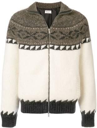 Saint Laurent zip-up knitted jacket