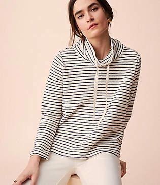 Lou & Grey Brushstripe Drawstring Top