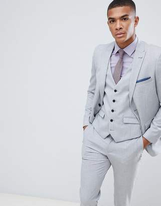 Burton Menswear Slim Fit Suit Jacket In Light Grey