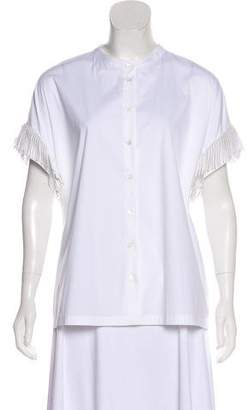 Brunello Cucinelli Fringed Button-Up Top