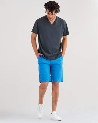 7 For All Mankind Total Twill Chino Short in Cobalt