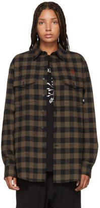 Marcelo Burlon County of Milan Brown Dogo Shirt