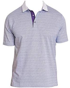 Robert Graham Men's Northcliff Cotton Jacquard Polo Shirt