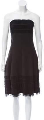 Cynthia Steffe Ruffle-Accented Strapless Dress