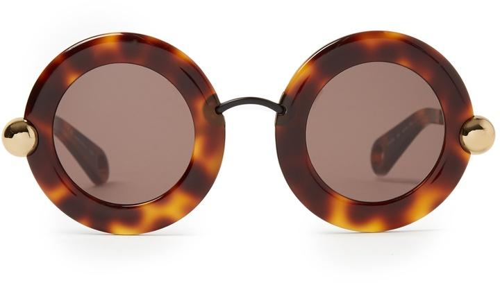 Christopher KaneCHRISTOPHER KANE Round-frame acetate sunglasses