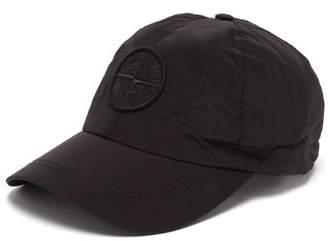 Stone Island Logo Embroidered Nylon Baseball Cap - Mens - Black