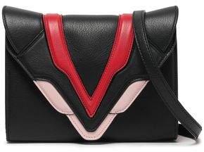 Elena Ghisellini Felina Appliqued Textured-leather Clutch