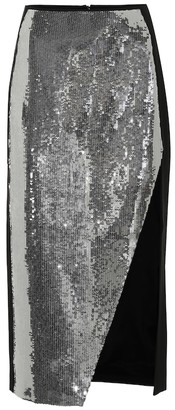David Koma Sequined midi skirt
