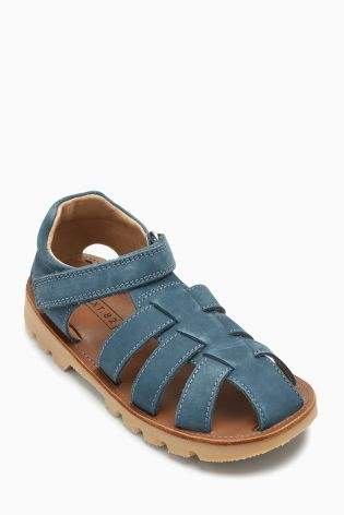 Boys Blue Leather Sandals (Younger Boys) - Blue