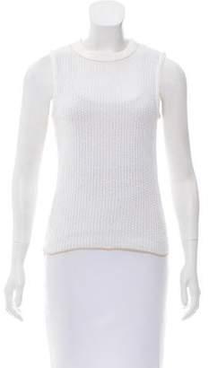 Chloé Sleeveless Open Knit Top