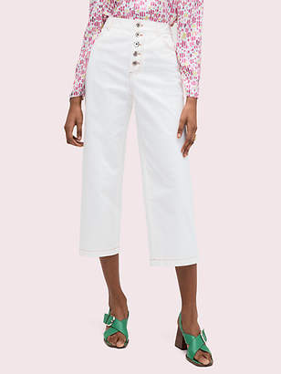 Kate Spade Button Front Pant, Cream - Size 24