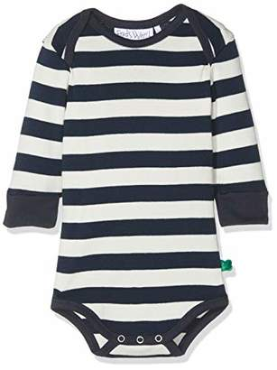 Green Cotton Fred's World by Baby Wide Stripe Body Bodysuit