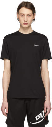 Givenchy Black Slim Script Logo T-Shirt