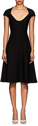 Zac Posen Women's Embellished Compact Knit Flared Dress
