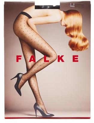 Falke Polka Dot 15 Denier Tights - Womens - Black