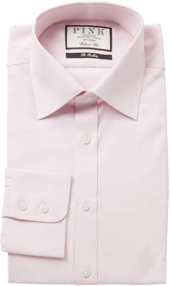 Thomas Pink Pink Solid Classic Fit Dress Shirt