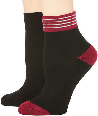 MIXIT Mixit 2 Pk Rayon From Bamboo Quarter Socks - Womens