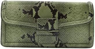 Dries Van Noten Green Leather Clutch Bag