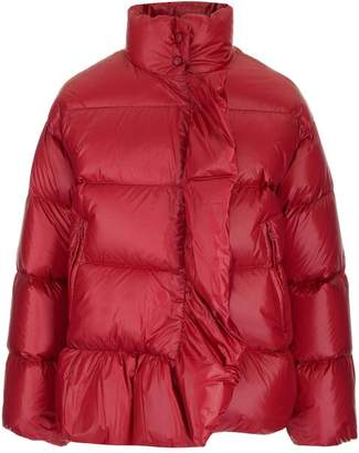 RED Valentino Ruffle Detail Down Jacket