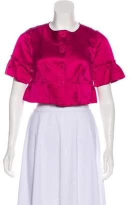 Diane von Furstenberg Crop Casual Jacket