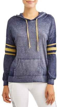 Thyme + Honey Women's Long Sleeve Acid Wash Athletic Sweatshirt