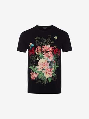 Alexander McQueen Rose Skull T Shirt